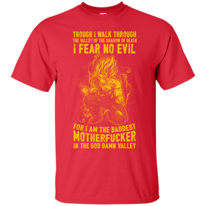 Dragon Ball Z Shirts Men's Goku Super Saiyan Though I Walk Through T-Shirt