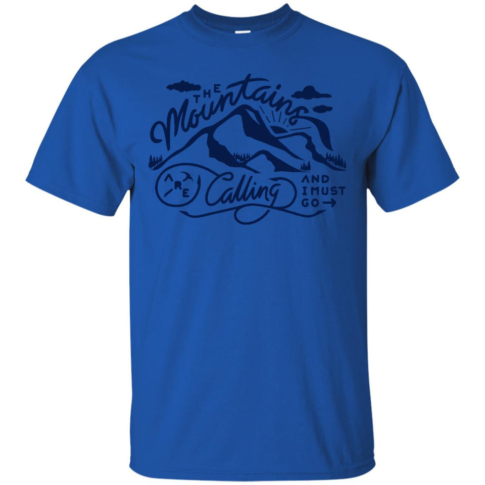 The Mountains Are Calling And I Must Go Graphic Gift TShirt