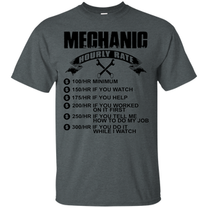 Mechanic Hourly Rate T shirt(Black) - Newmeup