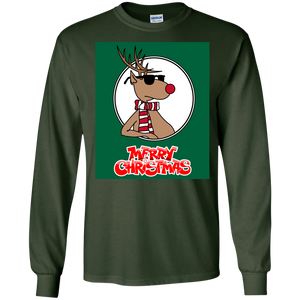Reindeer Christmas Holiday Sweatshirt Boys Girls Child Xmas - newmeup