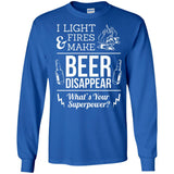 I Light Fires And Make Beer Disappear Funny Camping T-Shirt