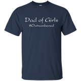 Mens Dad of Girls #Outnumbered T-shirt