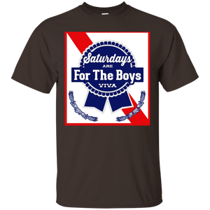 Saturdays Are For The Boys Shirt Blue Beer Ribbon Label Can - newmeup