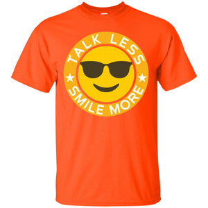 Talk Less Smile More Hamilton Yellow Emoji Smile T Shirt