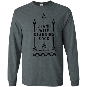 Stand With Standing Rock Water Is Life MNI WICONI SWEATSHIRT Black - newmeup