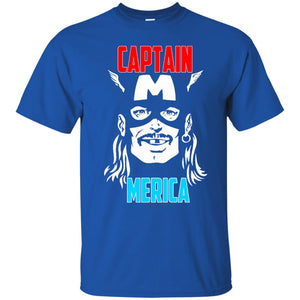 Captain Merica Drinking Independence Day 4th of July T-Shirt - Newmeup
