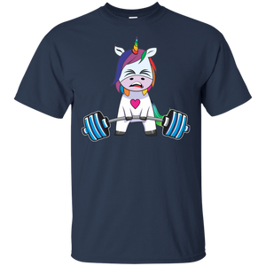Unicorn Weightlifting Shirt Fitness Gym Deadlift Rainbow