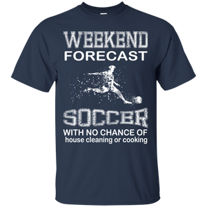 Men's Weekend Shirts Weekend Forecast Soccer T-shirts