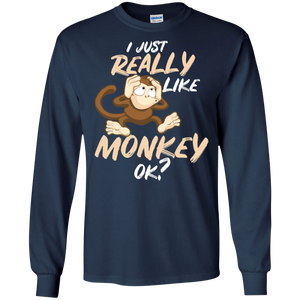 Monkey D Mon Love Monkey Eat Banana LS Sweatshirts