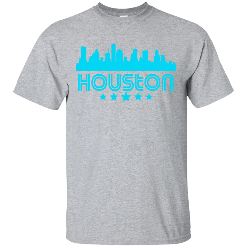 Houston Texas Skyline Retro Style T-Shirt
