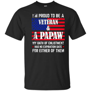 Men's I'm Proud To Be A Veteran And A Papaw T-shirt
