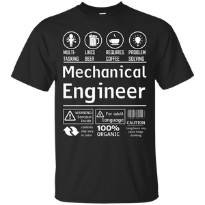 NewmeUp Men's Engineer Job Shirts Multitasking Likes Beer Requires Chemical T-shirts
