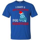 NewmeUp Men's Hippopotamus Shirts I Want A Hippopotamus For Christmas Tshirts