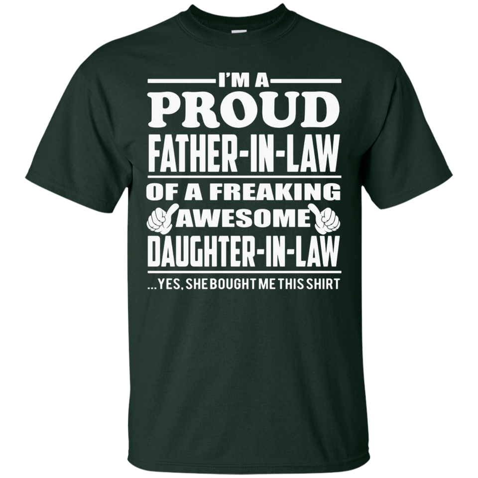Men's Proud Father in Law of Awesome Daughter in Law T-shirt