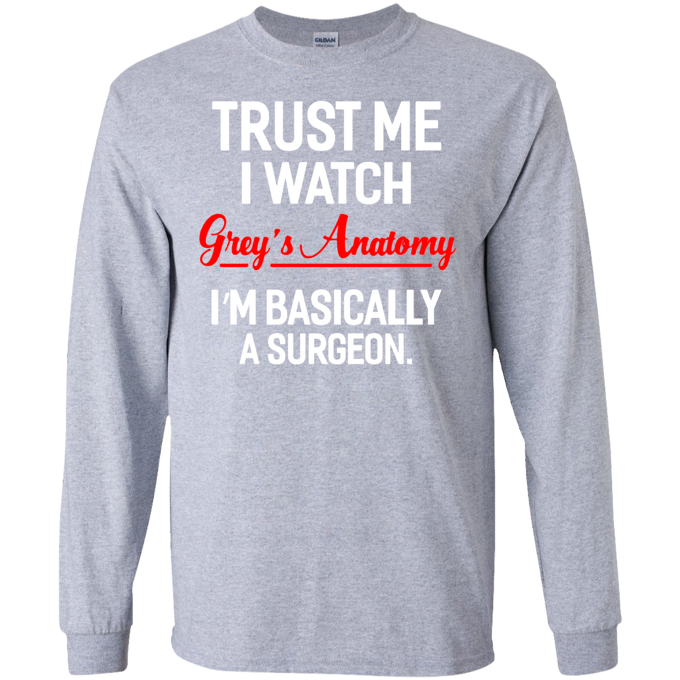 Trust Me I Watch Grey Anatomy Christmas SWEATSHIRT - Newmeup