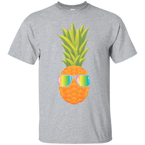 Hawaiian Pineapple with Sunglasses Illustration Gift-T-Shirt
