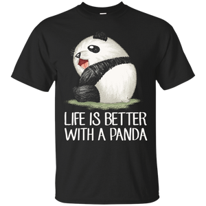 NewmeUp Men's Panda Tshirt Life Is Better With A Panda Shirts