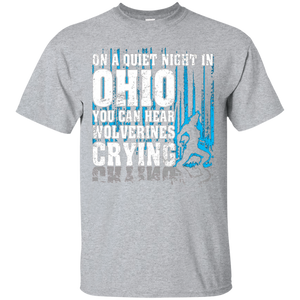 On Ohio You Can Hear Wolf Man Crying T-shirt