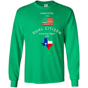 Dual Citizen - USA And Texas T-shirt