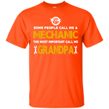 Men's Mechanic Tshirt- The most important call me Grandpa gift