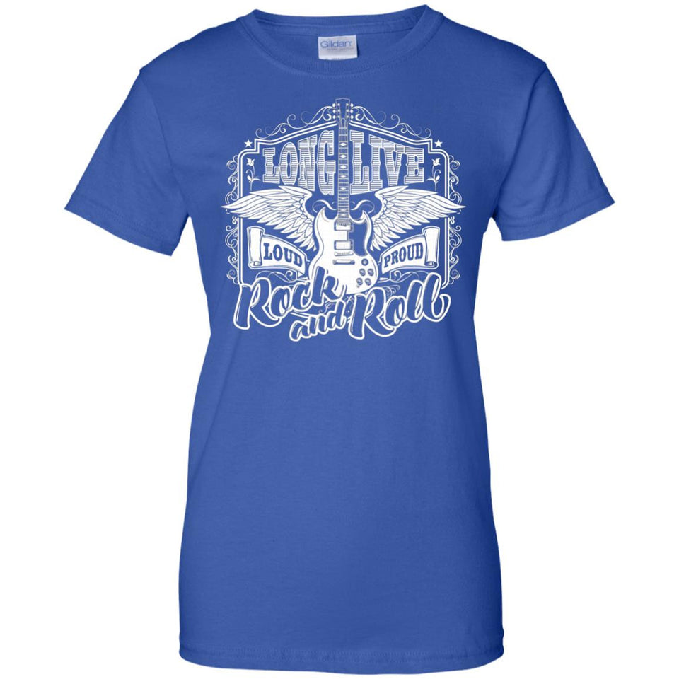 Long Live Rock and Roll Guitar Wings T-shirt