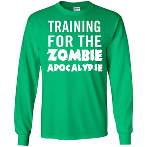 Fan Designed Training For The Zombie Apocalypse T-Shirt - Newmeup