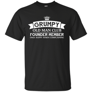 Men's Grumpy Old Man Shirt Funny Dads Tshirt for Fathers Day