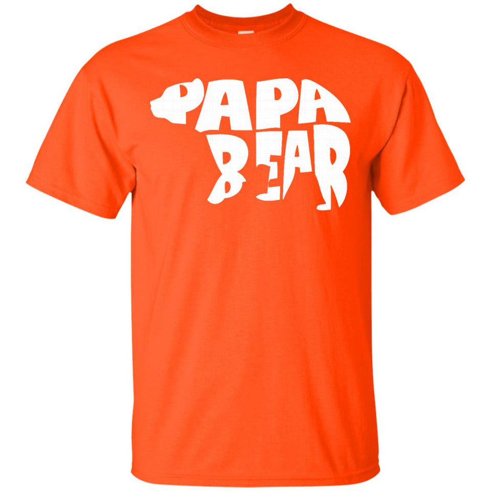 Papa Bear T-Shirt Father's Day Dad Men's Tee Shirt
