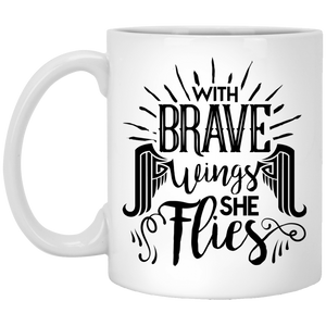 NewmeUP 11 Oz Coffee Mug Brave Wings She Flies