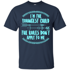 Men's I'm The Youngest Child The Rules Don't Apply To Me Tshirts
