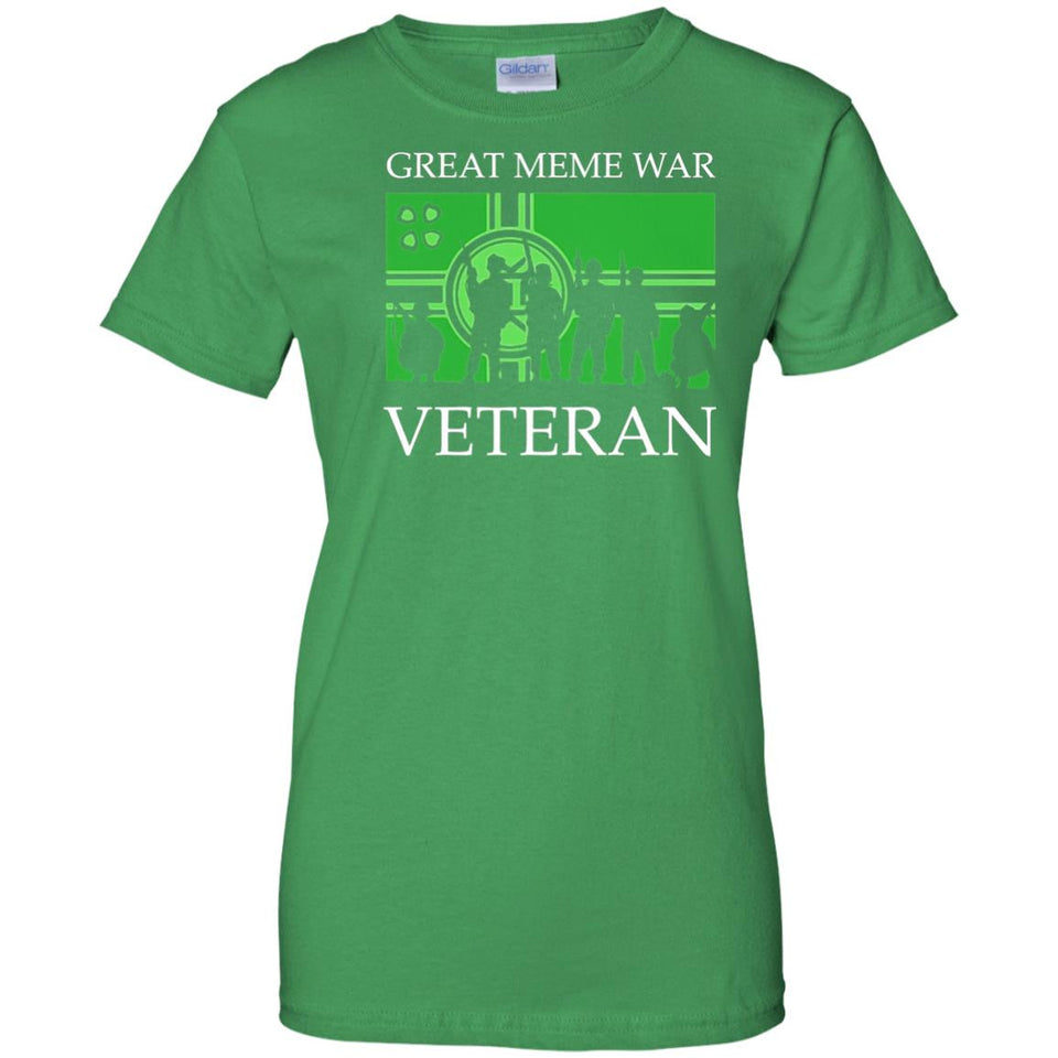 Mens Kekistan T Shirt Meme War Veteran