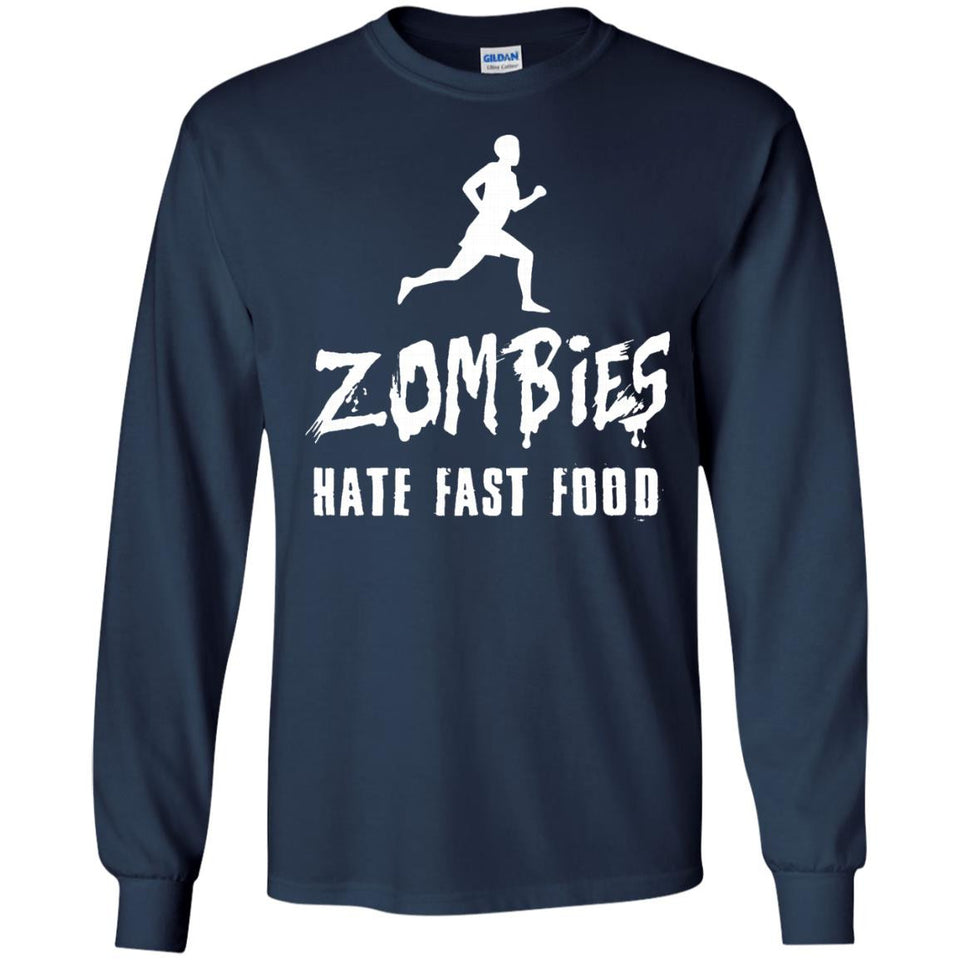 Zombies Hate Fast Food T-Shirt - Funny Undead Apocalypse Tee - Newmeup