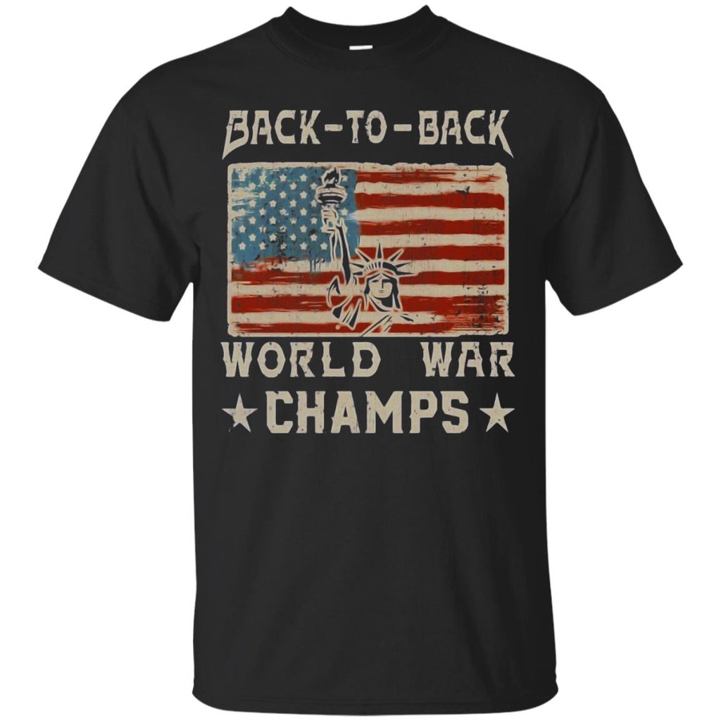 Back-To-Back World War Champs 4th Flag T-Shirt - Newmeup
