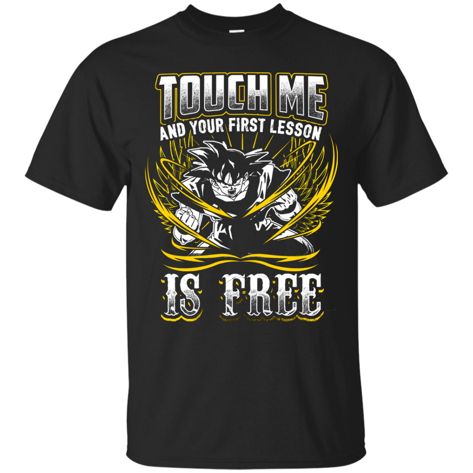 Dragon Ball Z Shirts Men's Vegeta Super Saiyan God Touch Me Dbz T-Shirt