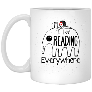 NewmeUP 11 Oz Coffee Mug Elephants Coffee Mug - I Like Reading Everywhere