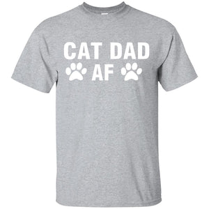 Cat Dad Af T- Shirt - Newmeup