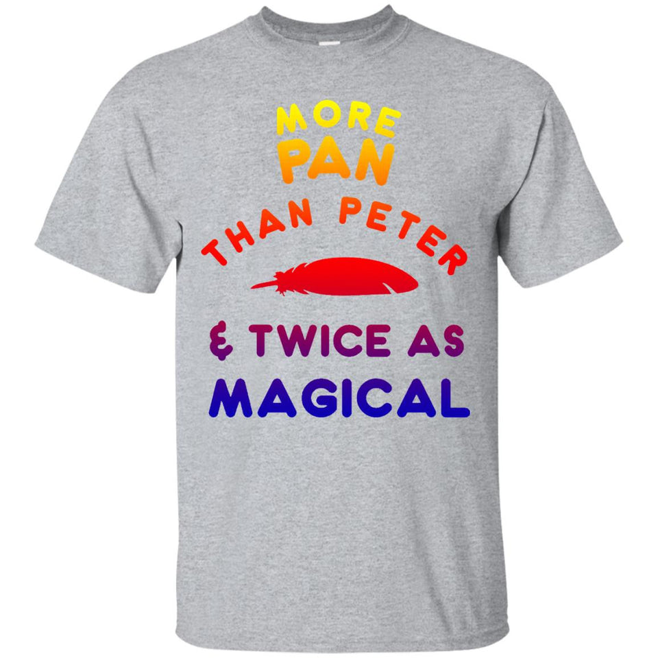 Funny More Pan than Peter Shirt, LGBTQ Pansexual Pride Gift