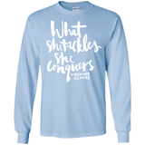 What She Tackles She Conquers SWEATSHIRT - Newmeup
