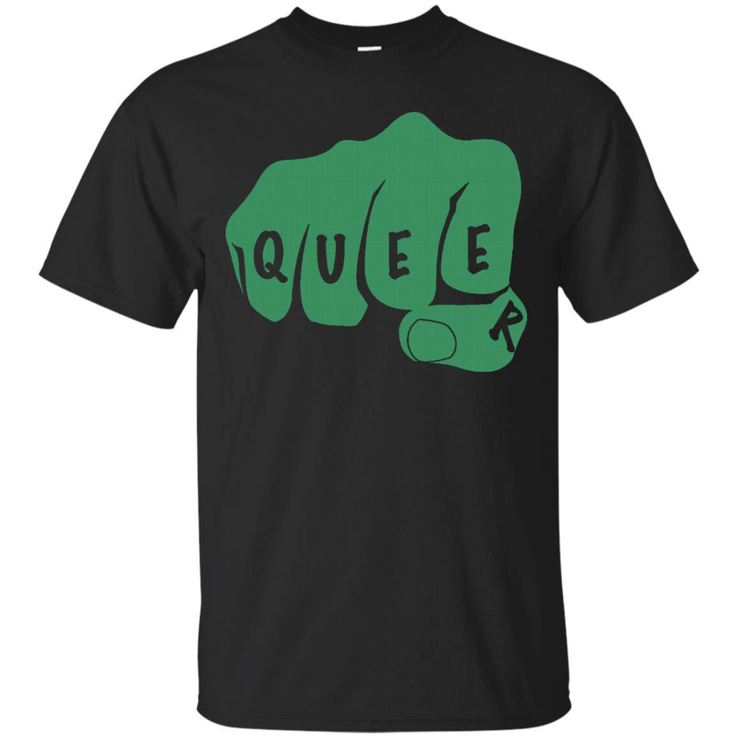Queer Fist Bump LGBT Gay Pride T-shirt, Queer AF Shirt