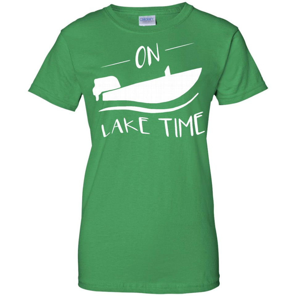On Lake Time - Funny Summer Boating and Fishing T-Shirt