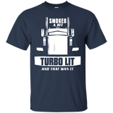 Trucker T-shirt - Smoked a bit til the turbo lit - Newmeup