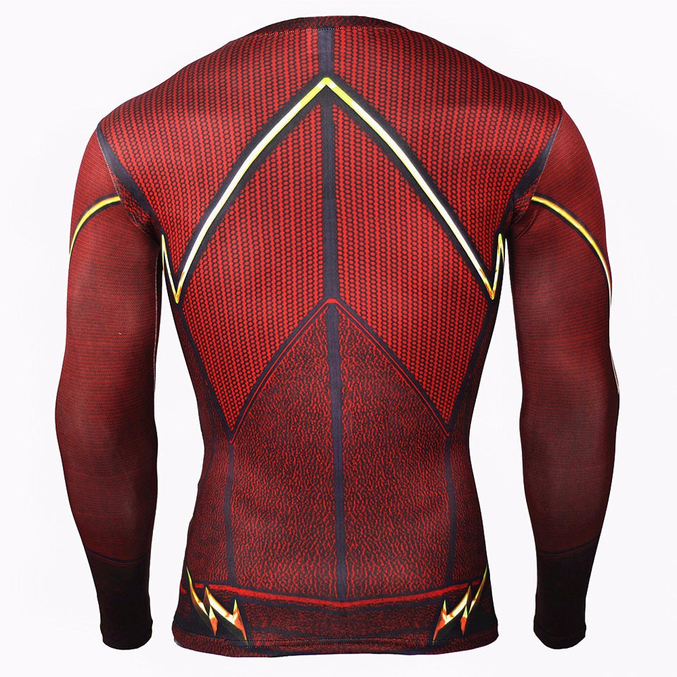 Flash Long Sleeve Compression Shirt (Flash 3d Tshirts)