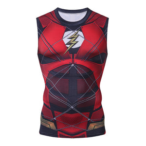 Flashman SuperHero Flash Bodybuilding Fitness Compression Tank Top