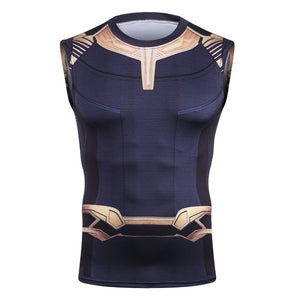 Infinity End Game Shirt Men's Thanos 3D Printed Compression Tank Top