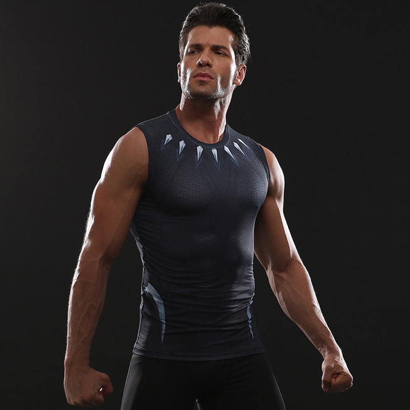 Infinity Shirt Men's Black Panther 3D Printed Compression Tank Top T-Shirt 2018