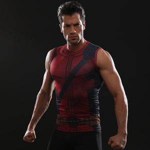 Infinity Shirt Men's Deadpool 2 Printed Compression Tank Top T-Shirt 2018