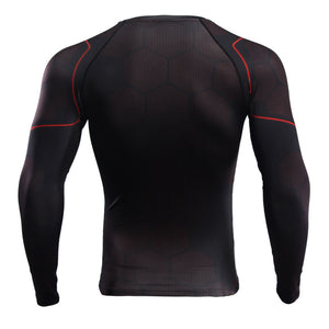 Infinity Shirt Men's Iron Man 3D Long Sleeve Compression Crossfit Top T-Shirt 2018