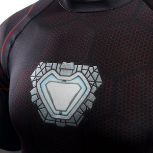 Infinity Shirt Men's Iron Man 3 Short Sleeve Compression Crossfit Top T-Shirt 2018