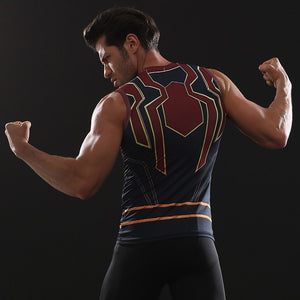 Infinity Shirt Men's Spider Man 3D Printed Compression Tank Top T-Shirt 2018