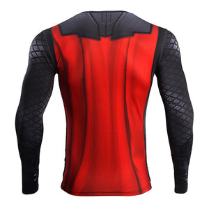 Infinity Shirt Men's Thor 3D Long Sleeve Compression Crossfit Top T-Shirt 2018